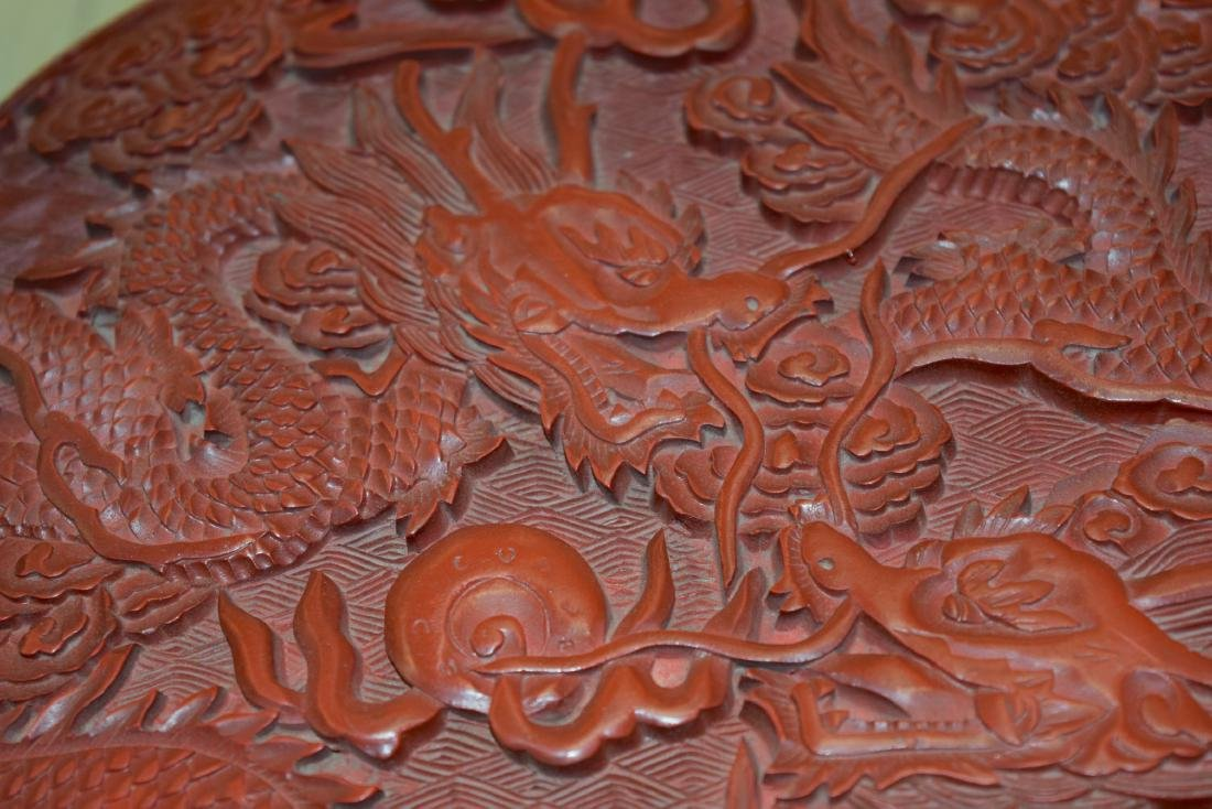 A FINE LARGE CHINESE CARVED CINNABAR LACQUER BOX AND - 4