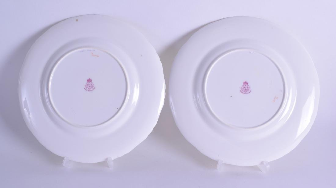 Royal Worcester pair of plates painted with fish and - 2