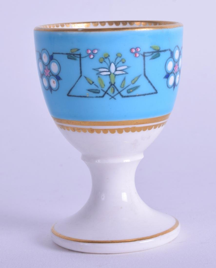 19th c. rare Royal Worcester egg cup painted in the