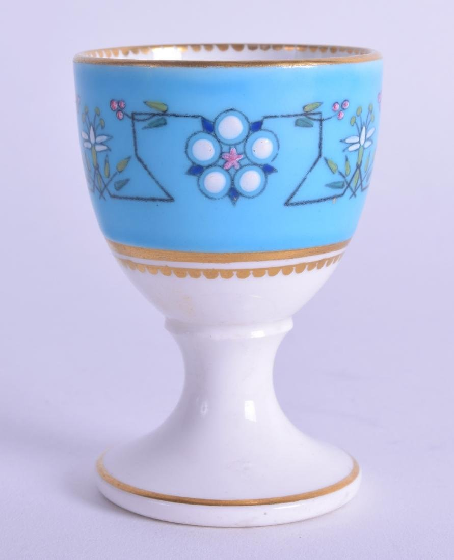 19th c. rare Royal Worcester egg cup painted in the - 2