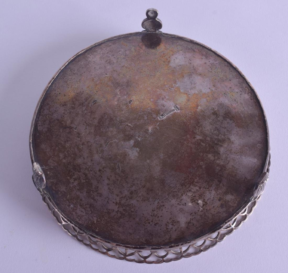 A LATE 18TH CENTURY CONTINENTAL SILVER OPEN WORK WAITER - 4