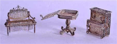 A CHARMING GROUP OF THREE 19TH CENTURY MALTESE SILVER