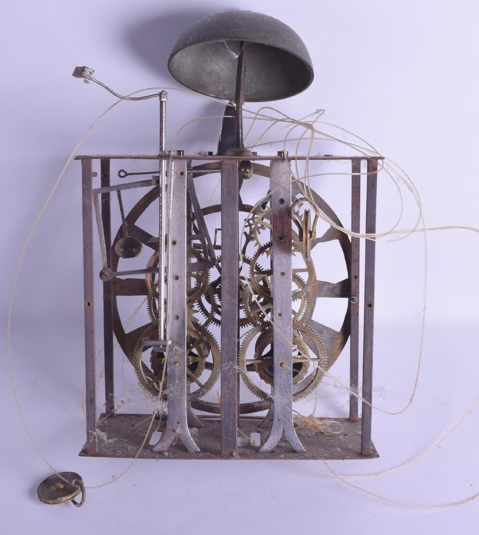 A 19TH CENTURY LONGCASE CLOCK MOVEMENT with openwork - 2
