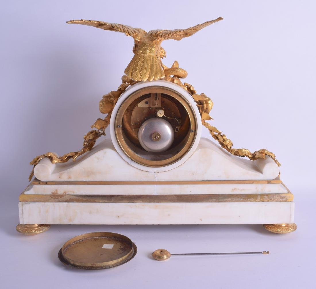 A GOOD MID 19TH CENTURY FRENCH ORMOLU AND WHITE MARBLE - 2