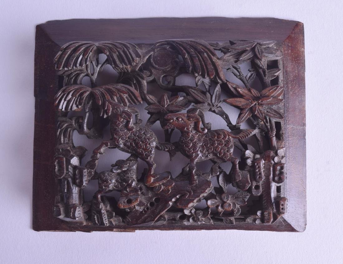 AN 18TH/19TH CENTURY CHINESE CARVED WOOD PANEL