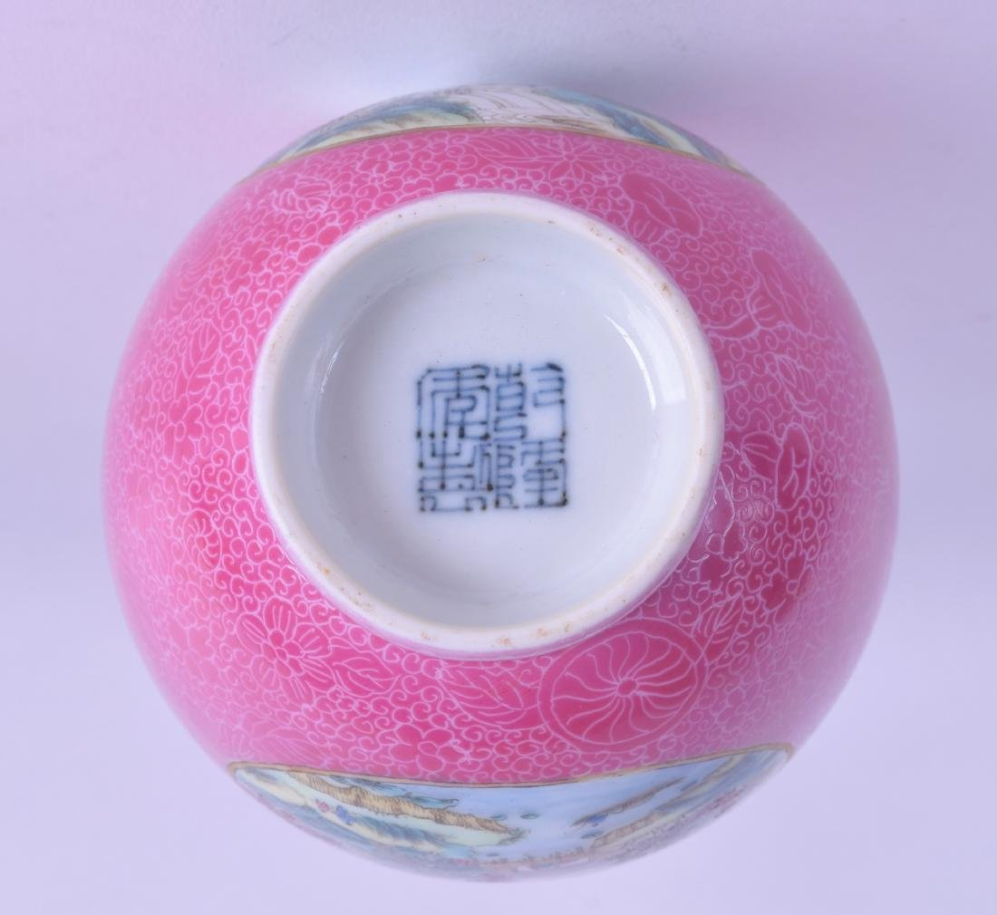 A CHINESE REPUBLICAN PERIOD FAMILLE ROSE PORCELAIN VASE - 3