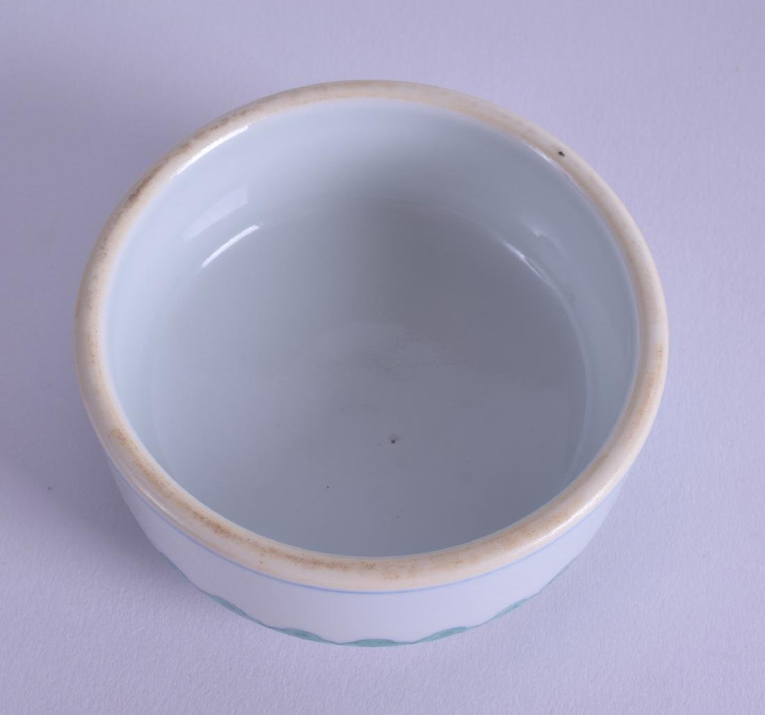 A CHINESE DOUCAI OVOID PORCELAIN GINGER JAR AND COVER - 6