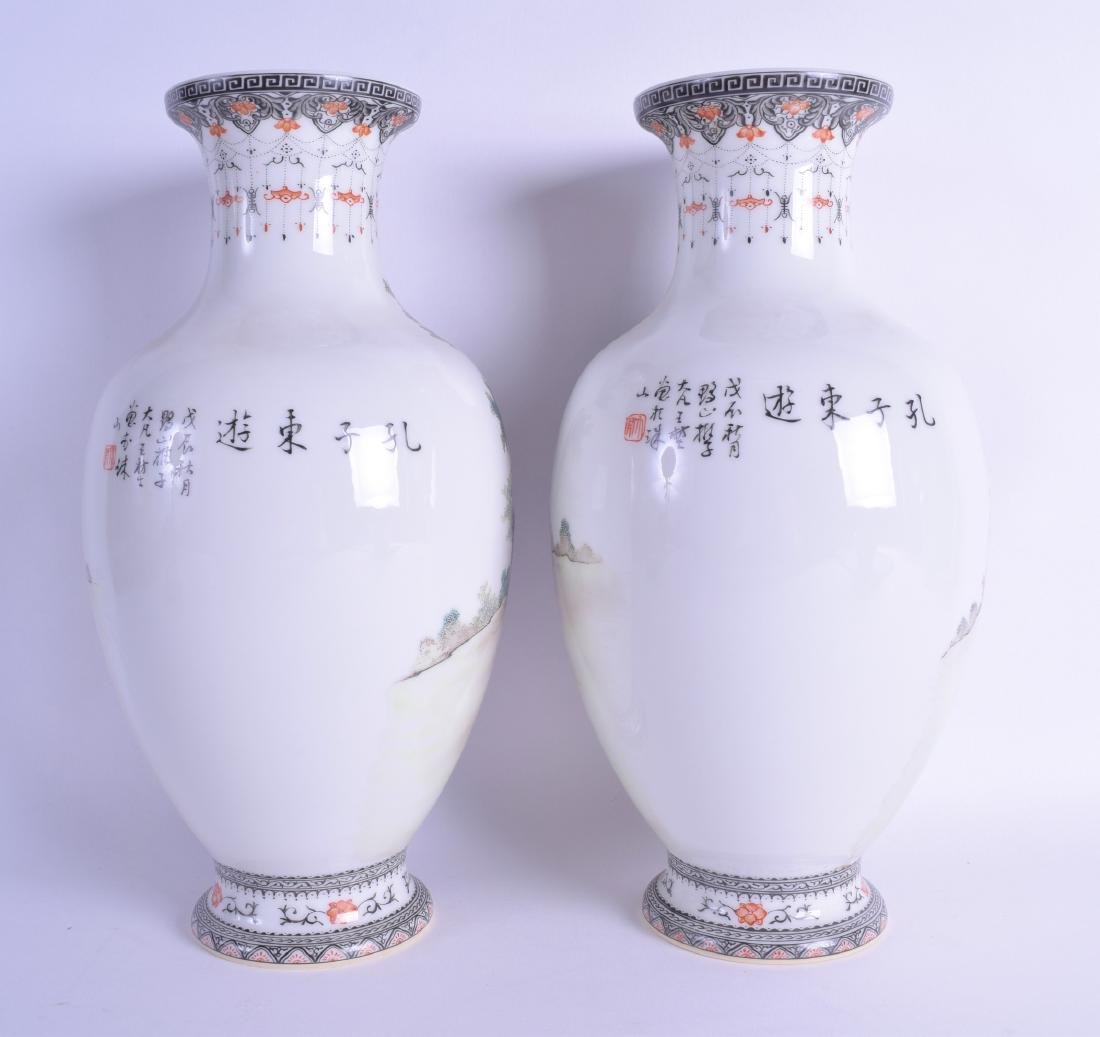 A PAIR OF CHINESE REPUBLICAN FAMILLE ROSE PORCELAIN - 2