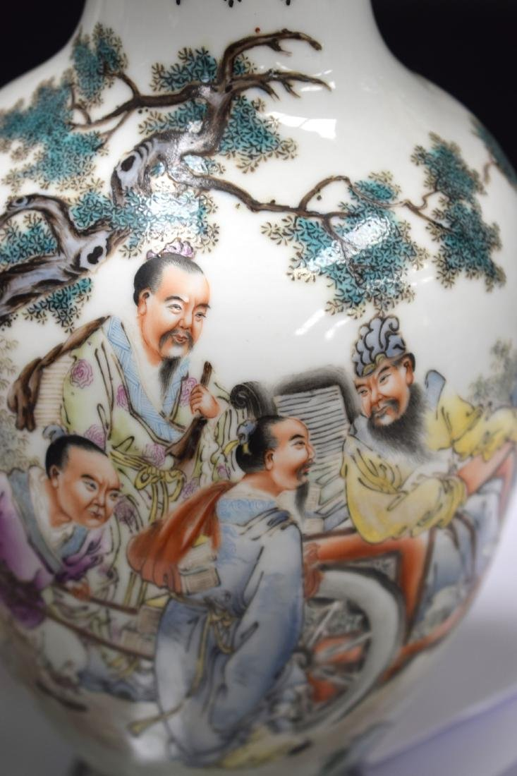 A PAIR OF CHINESE REPUBLICAN FAMILLE ROSE PORCELAIN - 5