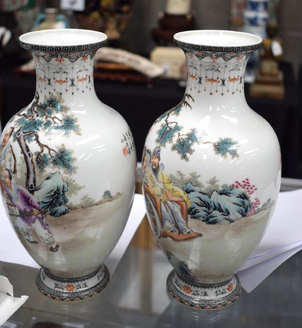 A PAIR OF CHINESE REPUBLICAN FAMILLE ROSE PORCELAIN - 6