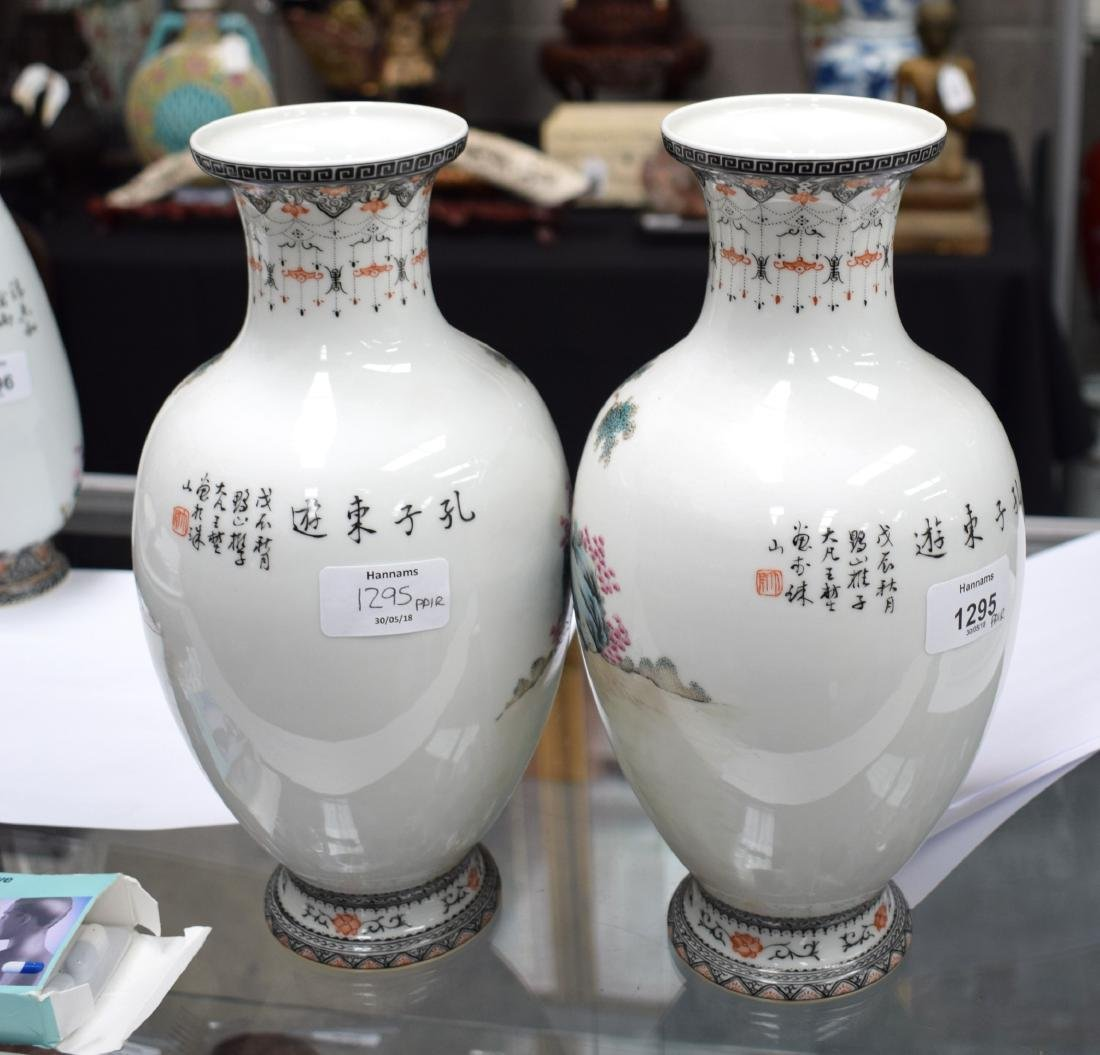 A PAIR OF CHINESE REPUBLICAN FAMILLE ROSE PORCELAIN - 7
