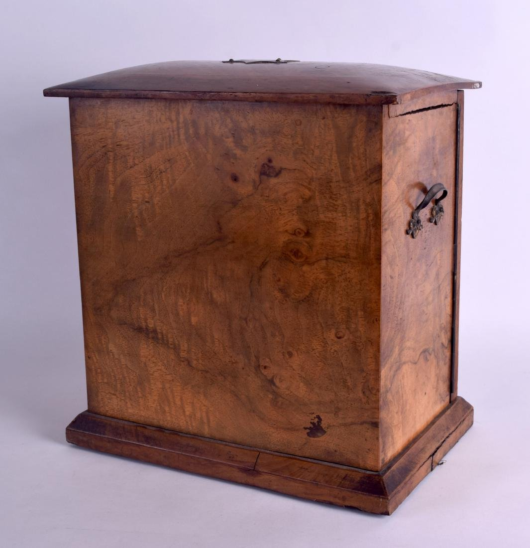 A VICTORIAN TWO DOOR WALNUT JEWELLERY DISPLAY CASE with - 4