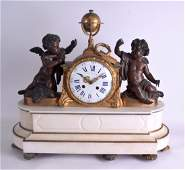 A LARGE MID 19TH CENTURY FRENCH BRONZE AND MARBLE