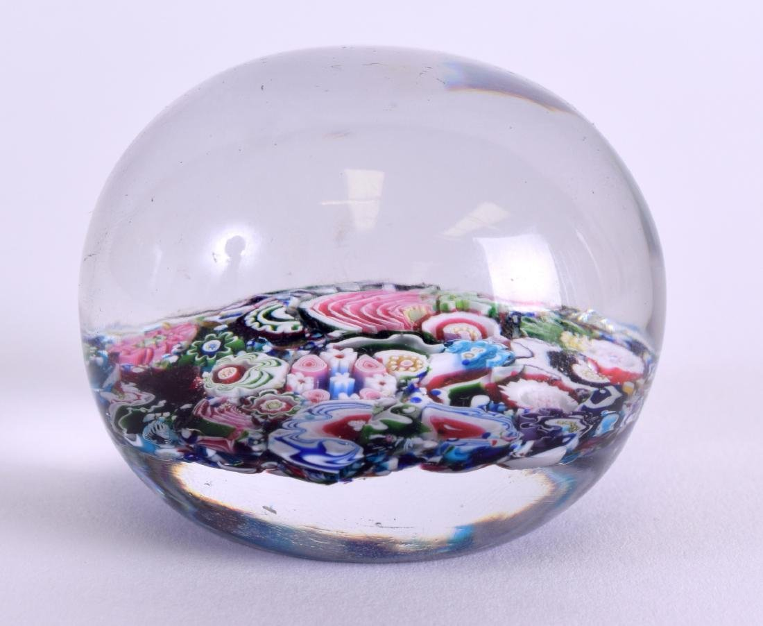 A 19TH CENTURY FRENCH CLICHY SCRAMBLE PAPERWEIGHT