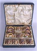 A CASED SET OF SIX ROYAL CROWN DERBY IMARI  PORCELAIN