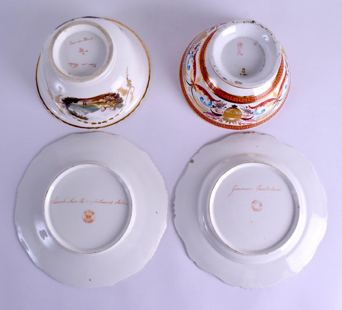 A PAIR OF 19TH CENTURY DERBY PLATES painted with a view - 3