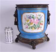 A VERY LARGE 19TH CENTURY SEVRES PORCELAIN JARDINIERE