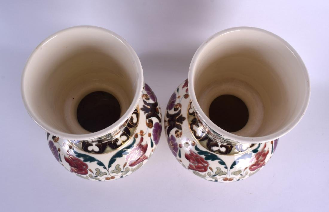 A PAIR OF AUSTRO HUNGARIAN RUDOLF DITMAR VASES Zsolnay - 3