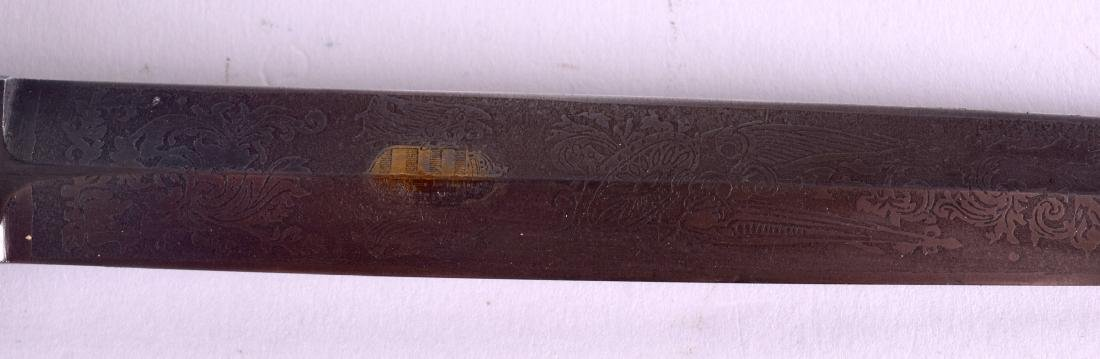 A HUNGARIAN ARMY OFFICERS DAGGER with etched blade, - 4