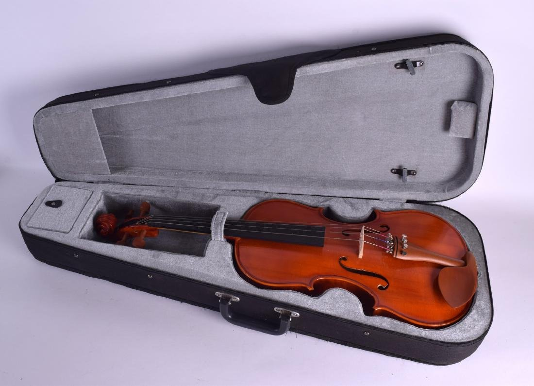 A MODERN GEAR 4 MUSIC DELUXE VIOLA within a fitted