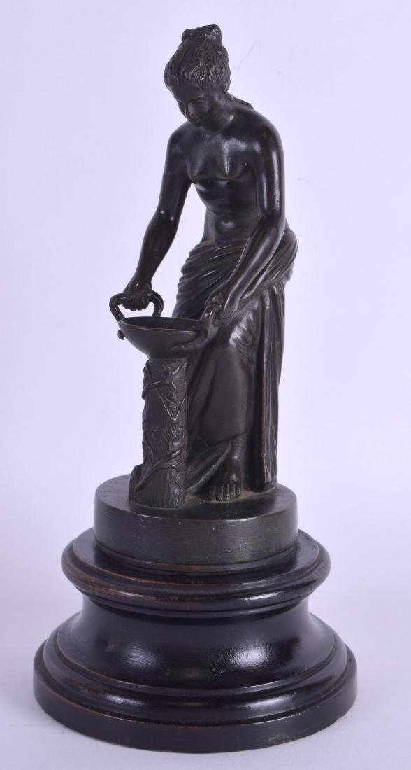 A 19TH CENTURY CONTINENTAL BRONZE FIGURE OF A CLASSICAL