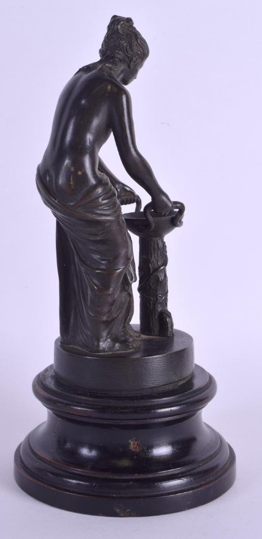 A 19TH CENTURY CONTINENTAL BRONZE FIGURE OF A CLASSICAL - 2