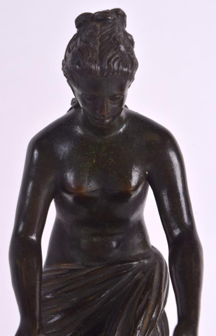 A 19TH CENTURY CONTINENTAL BRONZE FIGURE OF A CLASSICAL - 3