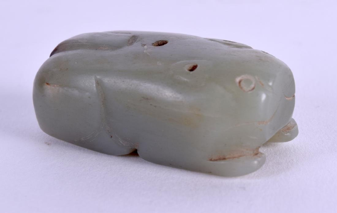 AN 18TH/19TH CENTURY CHINESE CARVED JADE JOSS STICK