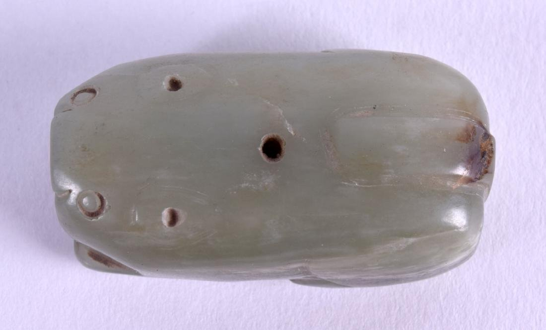 AN 18TH/19TH CENTURY CHINESE CARVED JADE JOSS STICK - 3