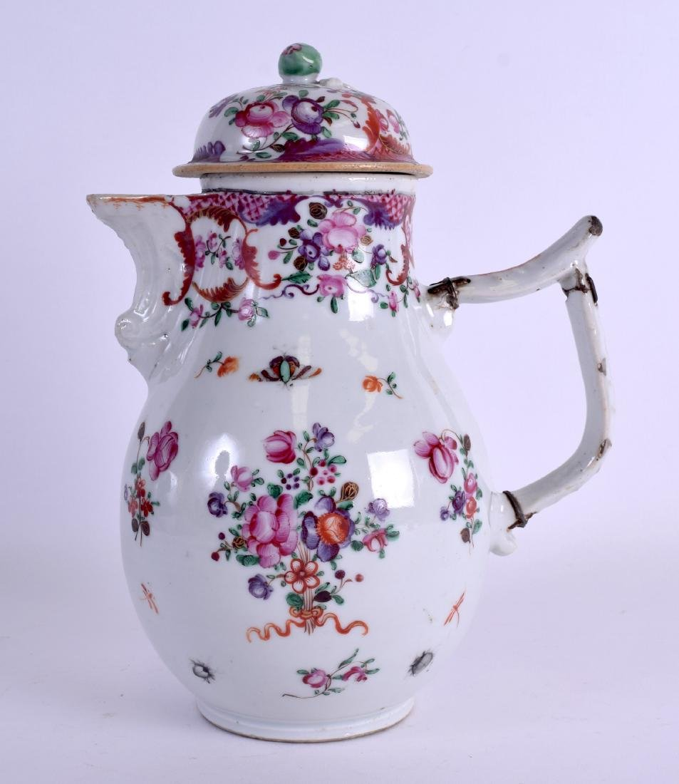A LARGE 18TH CENTURY CHINESE EXPORT PORCELAIN JUG AND