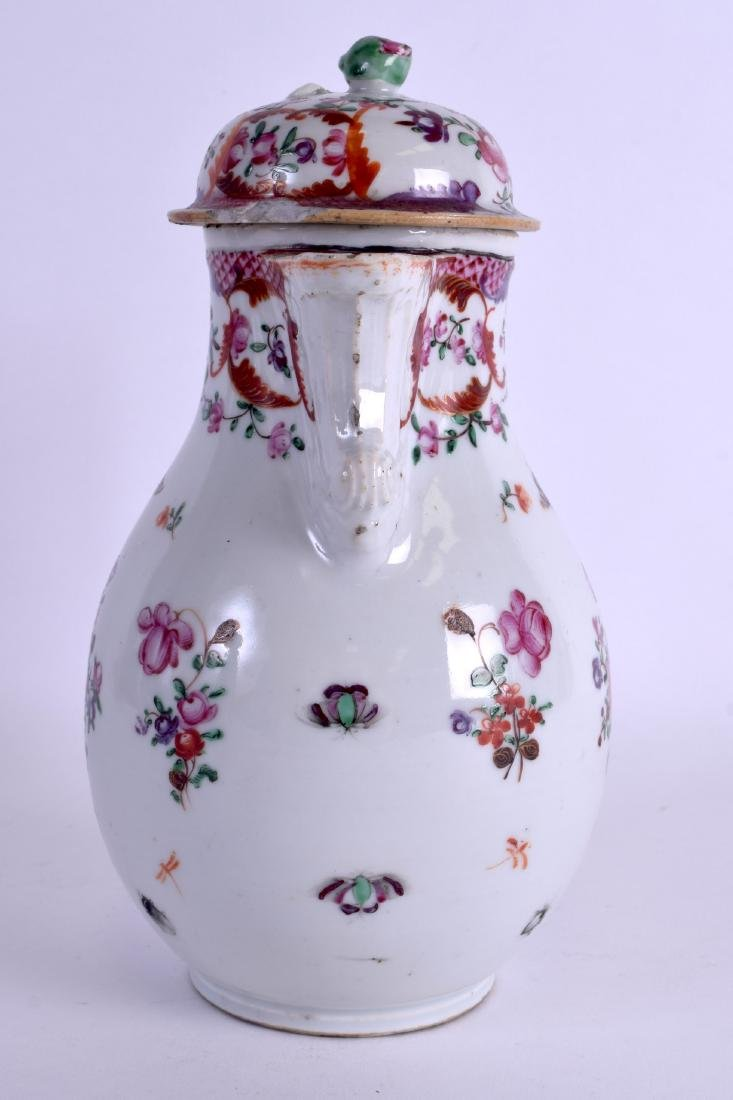 A LARGE 18TH CENTURY CHINESE EXPORT PORCELAIN JUG AND - 2
