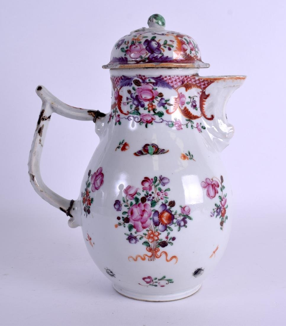 A LARGE 18TH CENTURY CHINESE EXPORT PORCELAIN JUG AND - 3