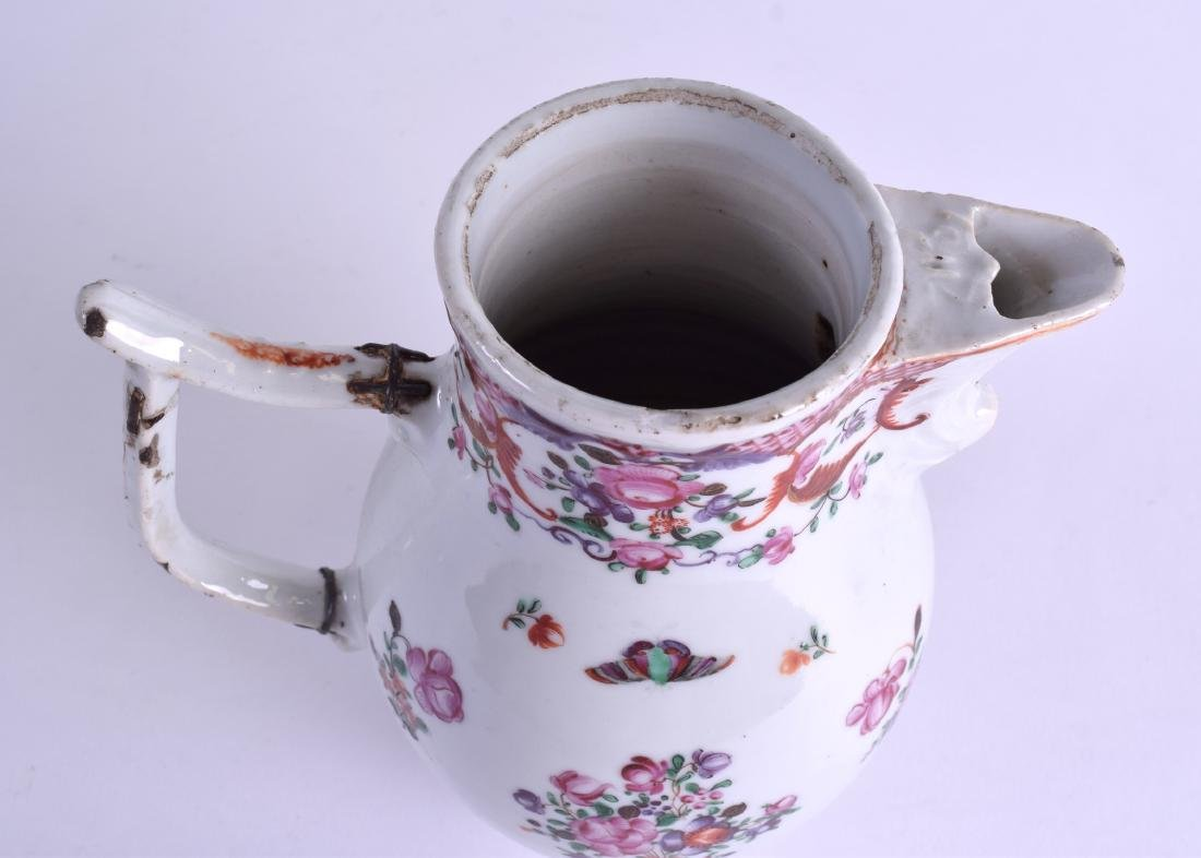 A LARGE 18TH CENTURY CHINESE EXPORT PORCELAIN JUG AND - 5