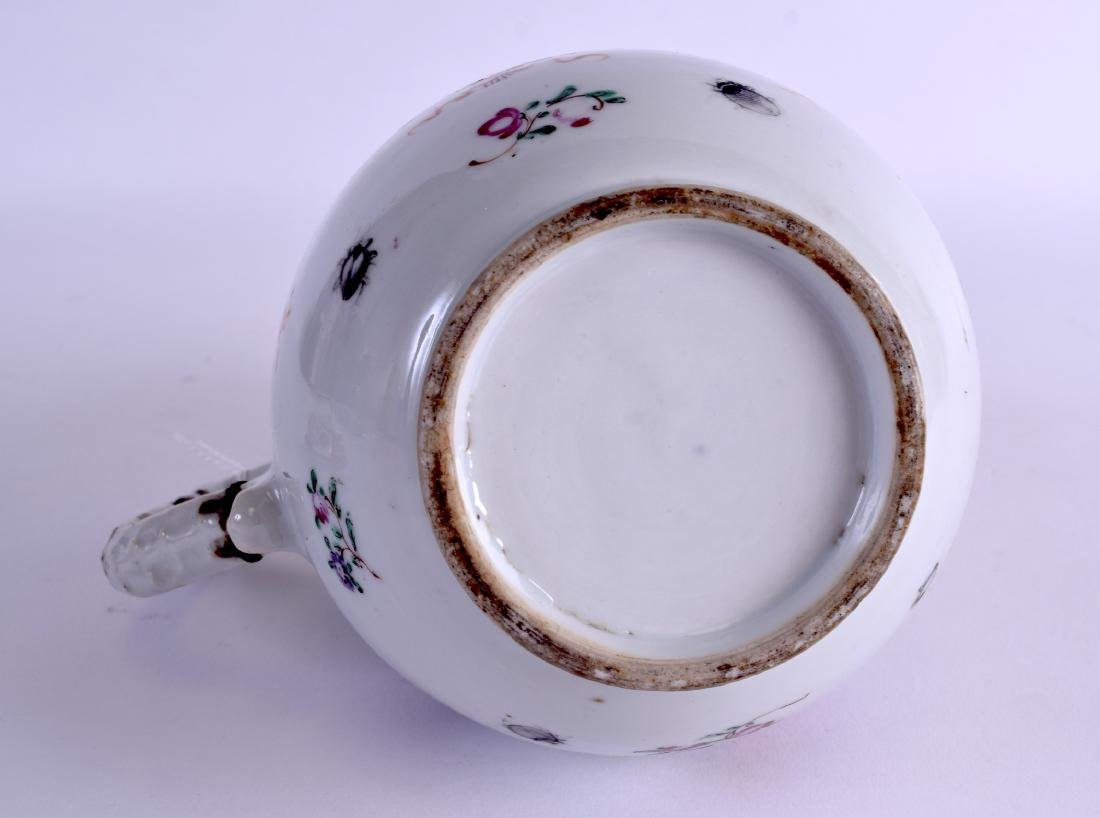 A LARGE 18TH CENTURY CHINESE EXPORT PORCELAIN JUG AND - 6