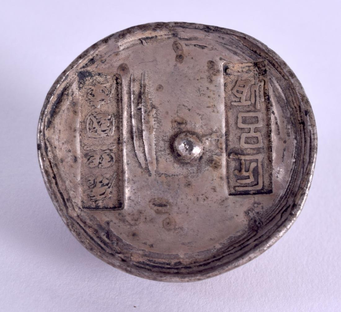 AN EARLY 20TH CENTURY CHINESE WHITE METAL INGOT - 3