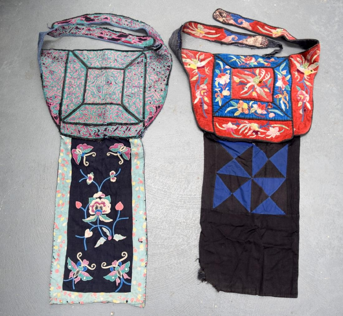 AN UNUSUAL GROUP OF 18TH/19TH CENTURY CHINESE SILK
