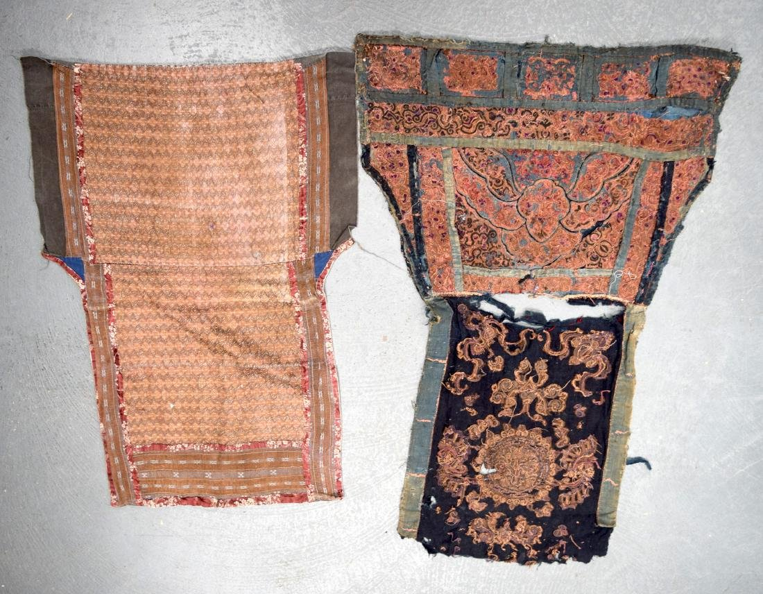AN UNUSUAL GROUP OF 18TH/19TH CENTURY CHINESE SILK - 6