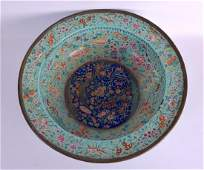 A VERY LARGE 18TH CENTURY CHINESE CANTON ENAMEL WASH