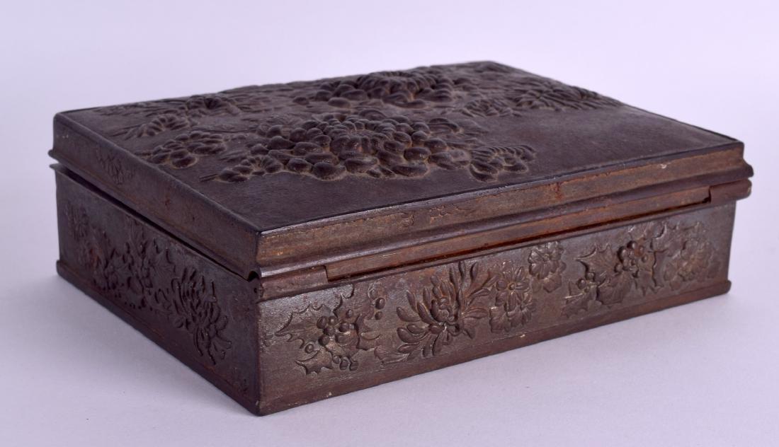 A RARE 19TH CENTURY JAPANESE MEIJI PERIOD IRON CASKET - 2