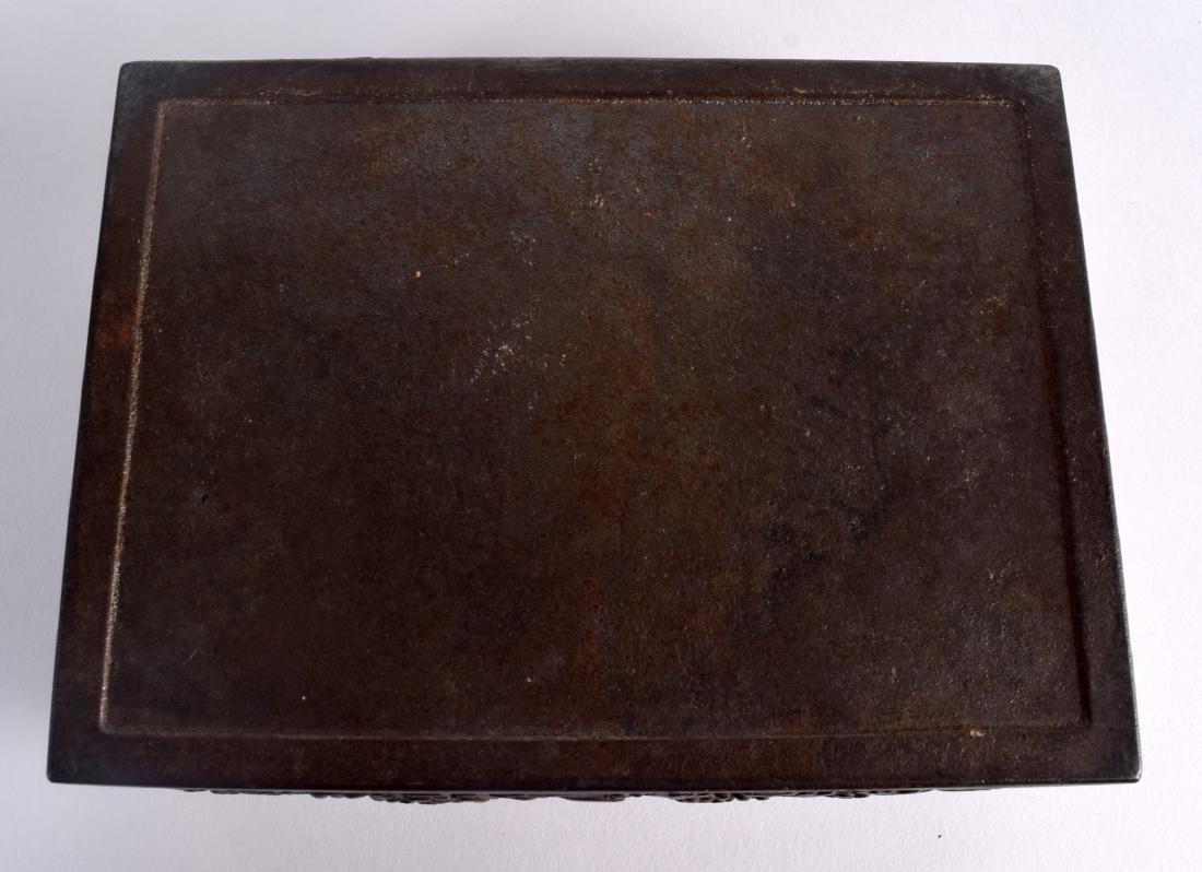 A RARE 19TH CENTURY JAPANESE MEIJI PERIOD IRON CASKET - 4