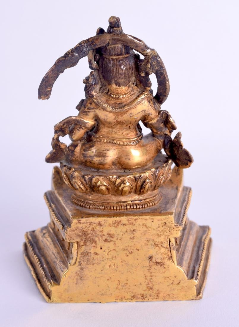 AN 18TH/19TH CENTURY CHINESE SINO TIBETAN GILT BRONZE - 2