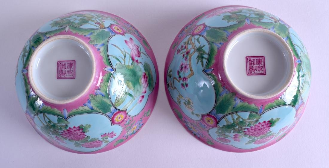 A PAIR OF CHINESE FAMILLE ROSE PORCELAIN BOWLS 20th - 4
