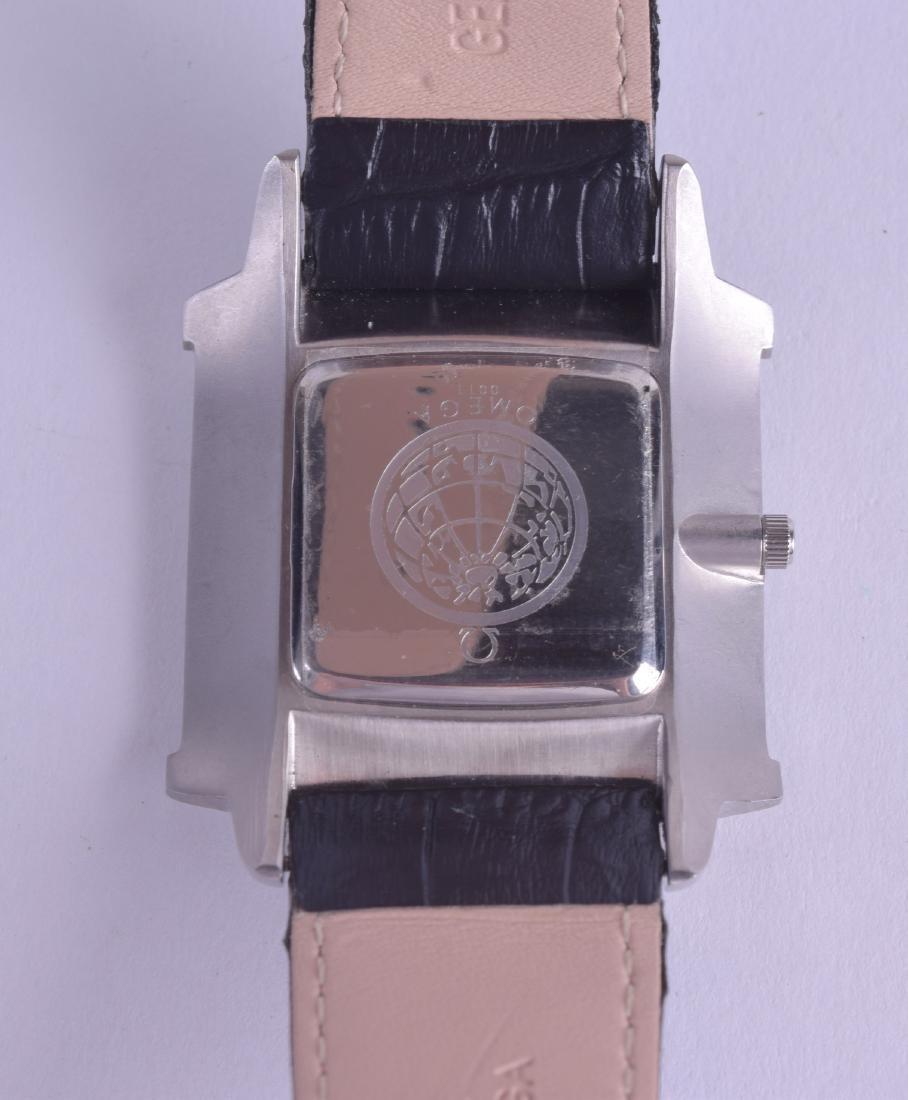 AN OVERSIZED OMEGA SQUARE WRISTWATCH. 4.5 cm x 3.5 cm. - 2