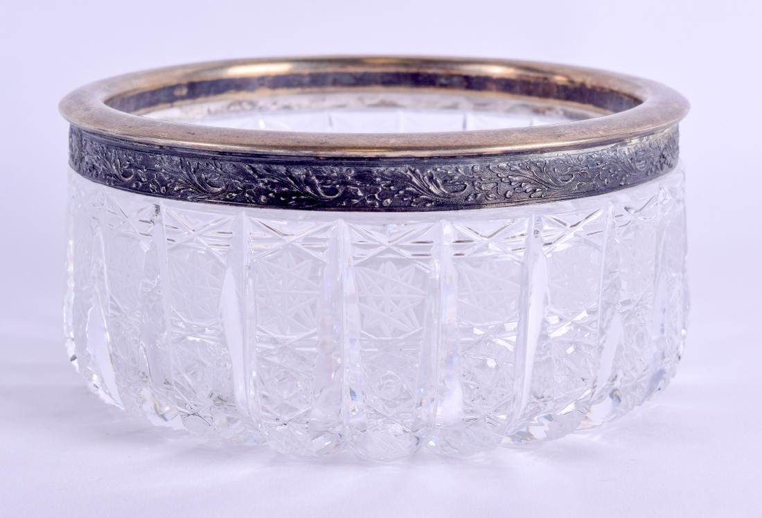 AN EARLY 20TH CENTURY RUSSIAN SILVER AND CRYSTAL BOWL - 2