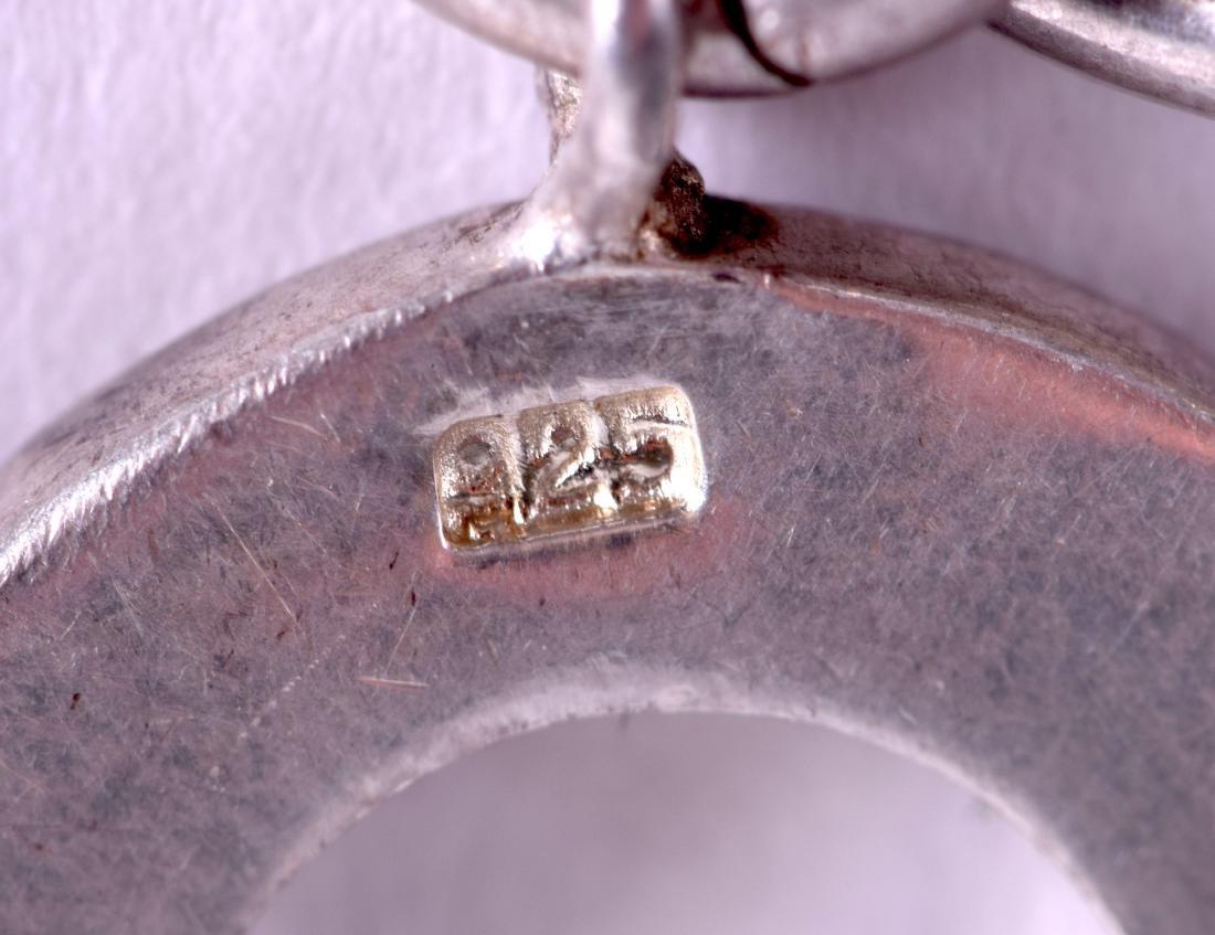 A TIFFANY & CO SILVER CHARM BRACELET. 18 cm long. - 3
