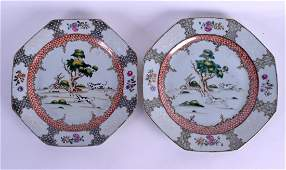 A PAIR OF 18TH CENTURY CHINESE EXPORT FAMILLE ROSE