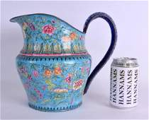 A LARGE 19TH CENTURY CHINESE CANTON ENAMEL JUG Qing,