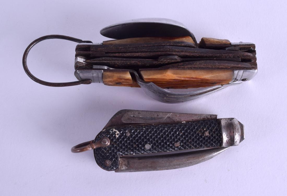 AN UNUSUAL VINTAGE COMBINATION POCKET PEN KNIFE SPOON