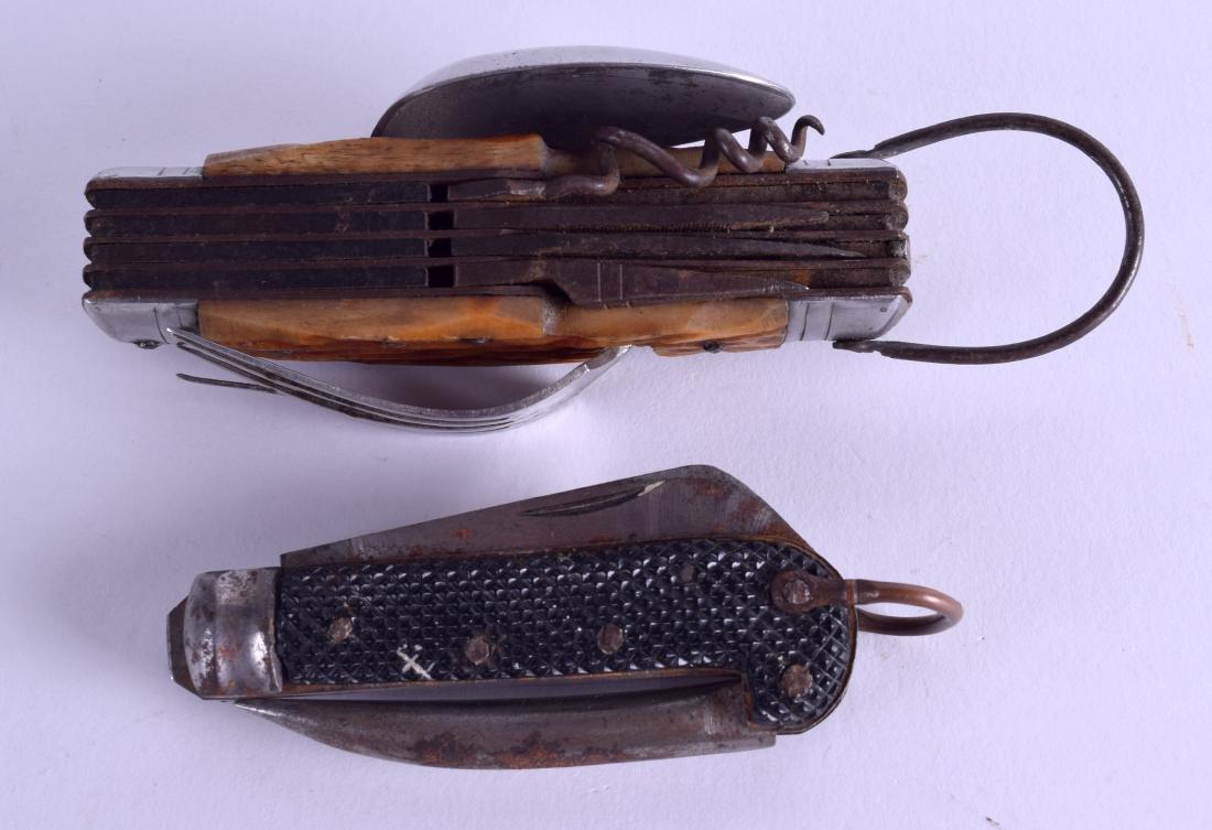 AN UNUSUAL VINTAGE COMBINATION POCKET PEN KNIFE SPOON - 2