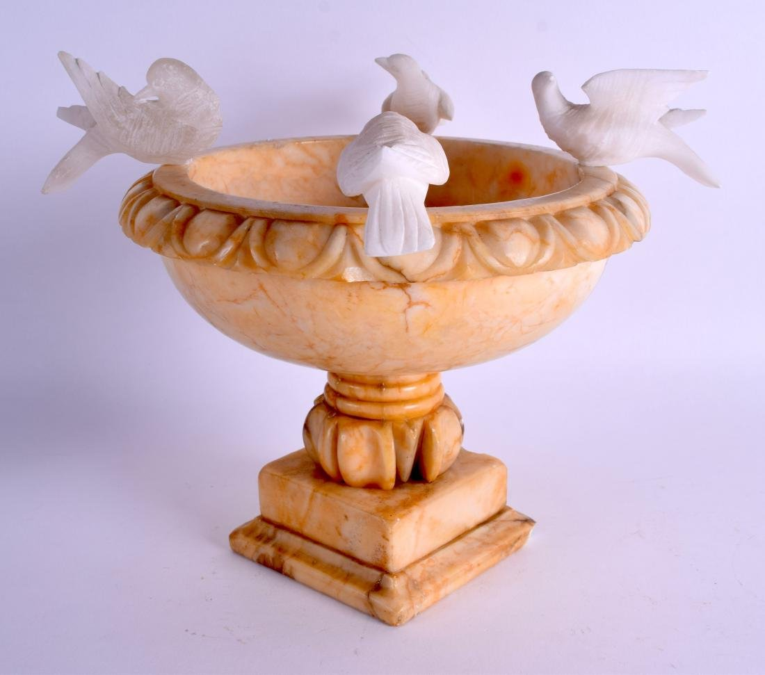A LATE 19TH CENTURY ITALIAN GRAND TOUR CARVED ALABASTER - 2